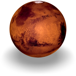 An icon of the planet Mars, 256 x 256