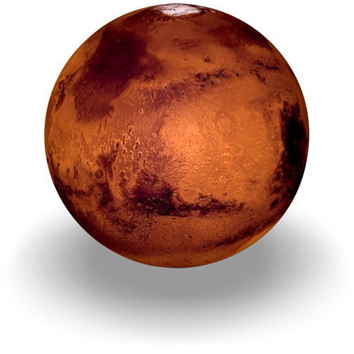 An icon of the planet Mars, 512 x 512