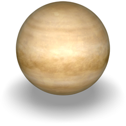 An icon of the planet Venus, 256 x 256